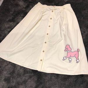 ADORABLE vintage poodle skirt